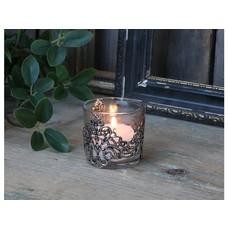Chic Antique Teelichthalter mit silber dekor