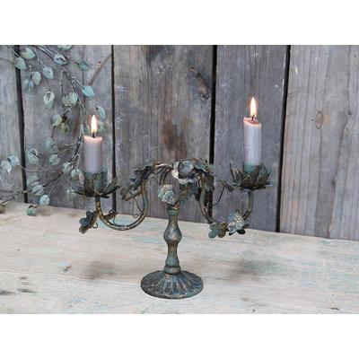 Chic Antique Kerzenständer mit Blättern von Chic Antique