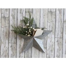Chic Antique Stern für Wand aus Zink