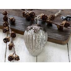 Chic Antique Weihnachtskugel mit Dekor