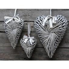 Chic Antique Herz, Flecht grau