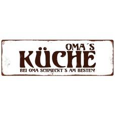 Metallschild, Omas Küche