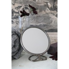 Jeanne d'Arc Living Mirror with foot, antique silver