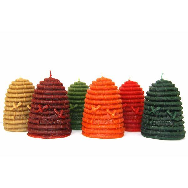 Bienenwachskerzen - Bienenstock, in verschiedenen Farben