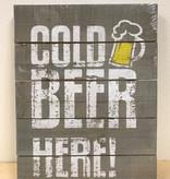 Tekstbord Cold Beer Here