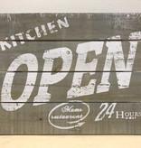 Tekstbord Kitchen Open 24 hours