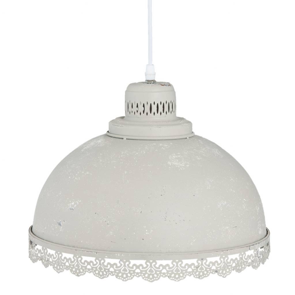 Clayre & Eef Hanglamp Grijs