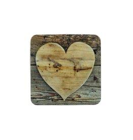 Mars & More Onderzetter hart hout Set/6