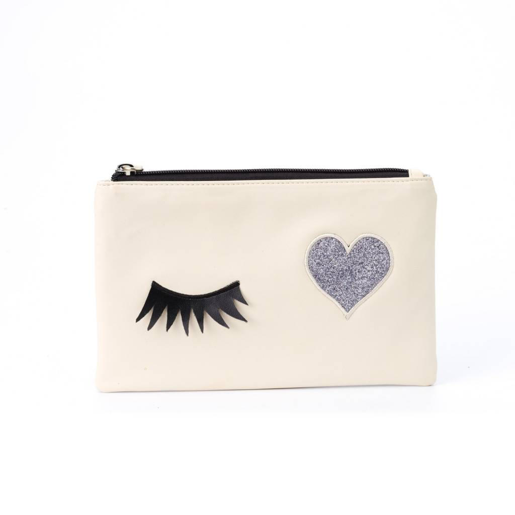 ZEBRA Etui - Toilettas Lashes White