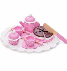 New Classic Toys Koffie/Thee Set - Servies met Snijtaart