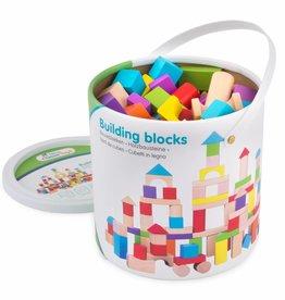 New Classic Toys Bouwblokken in Ton - Gekleurd - 100 stuks