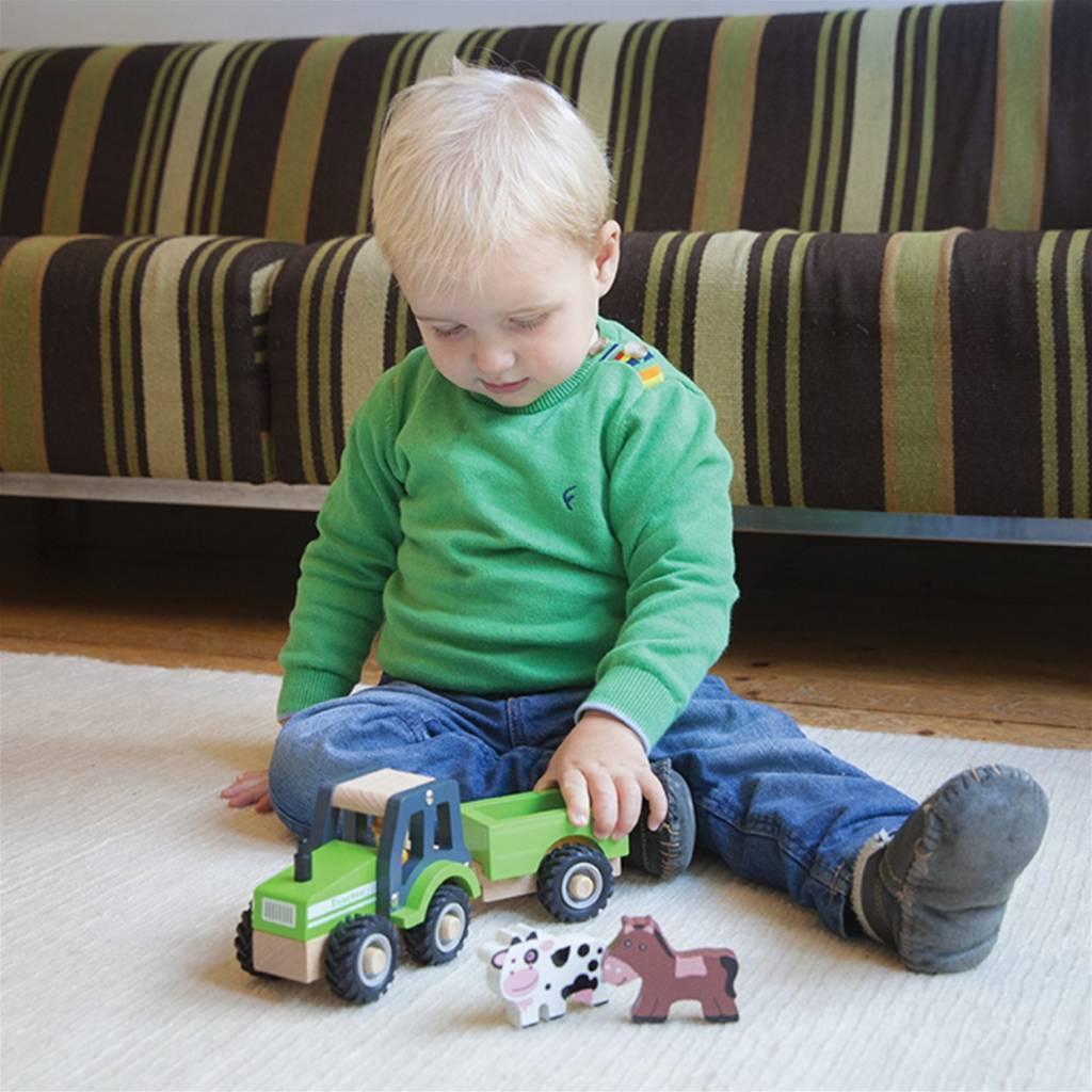 New Classic Toys  Tractor met Aanhanger - Dieren