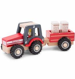 New Classic Toys Tractor met Aanhanger - Hooibalen