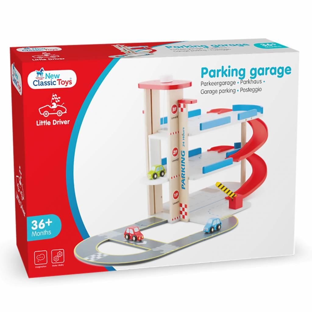 New Classic Toys Parkeergarage met Autobaan en 3 auto's