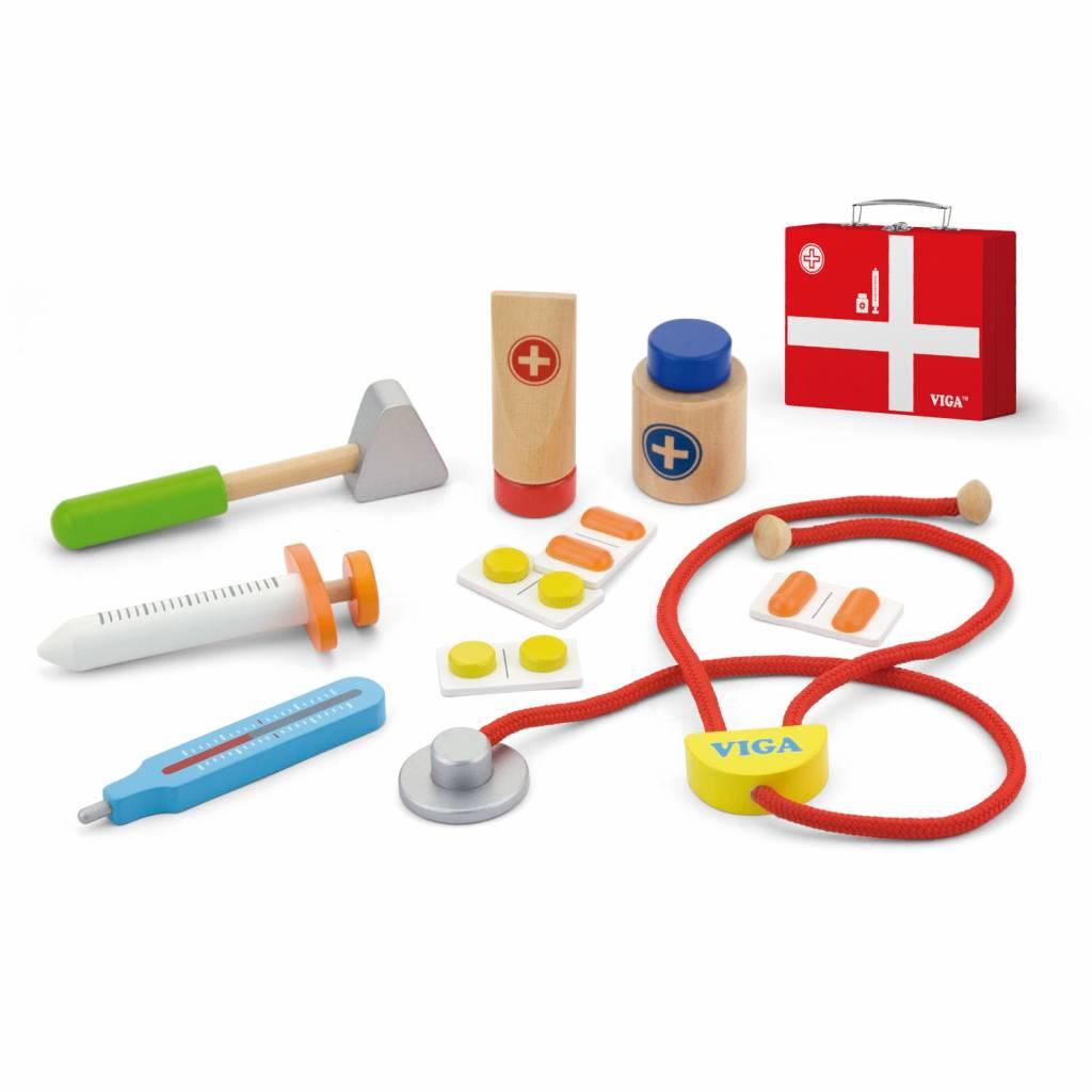 Viga Toys - Dokterskoffer - 11 delig