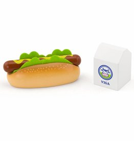 Viga Toys - Speelset - Hotdog en Melk