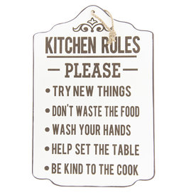 Clayre & Eef Tekstbord Kitchen Rules