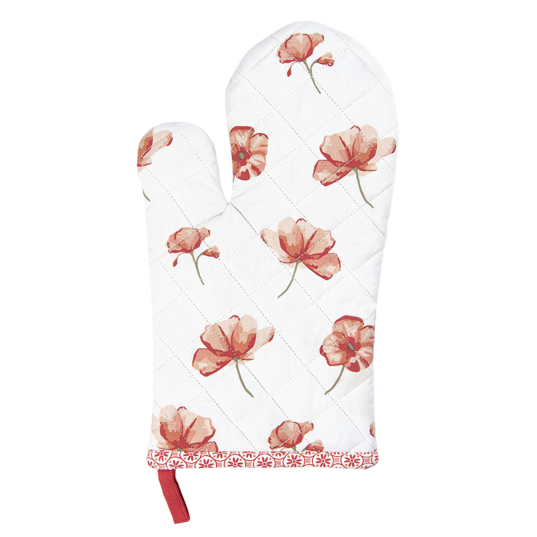 Clayre & Eef Ovenhandschoen Poppy Flower