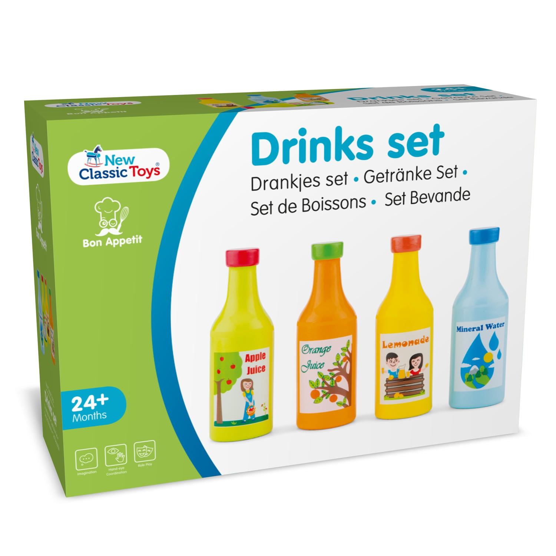 New Classic Toys  Set van 4 flesjes drinken