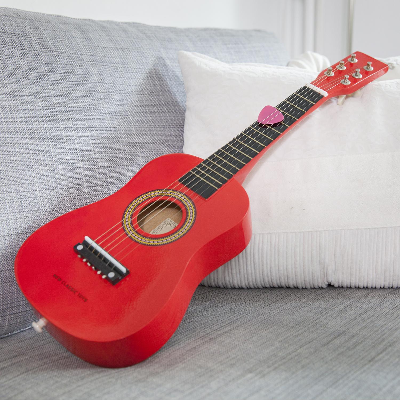 New Classic Toys Gitaar - Rood