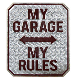 Clayre & Eef Tekstbord My Garage My Rules