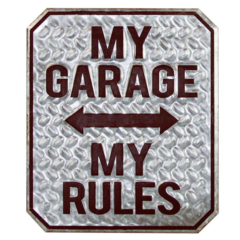 Clayre & Eef Tekstbord My Garage My Rules