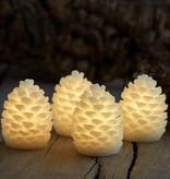 Sirius Home Clara LED cones H:7,5 cm white 4 stuks