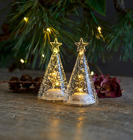 Sirius Home Romantic LED Glass Trees Set/2