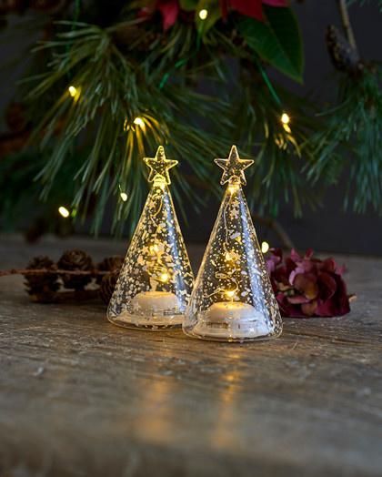 Sirius Home Romantic LED Glass Trees Set/2