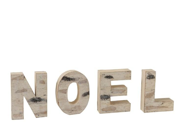 J-line Noel Letters Schors Naturel
