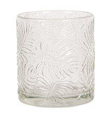 Clayre & Eef Waxinelichthouder palmbladeren 8 cm