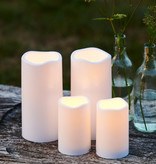 Sirius Home Storm LED candle 1 pc plastic H:20 D:10cm white Outdoor