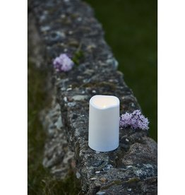 Sirius Home Storm LED candle 1 pc plastic H:12,5 D:7,5cm white Outdoor