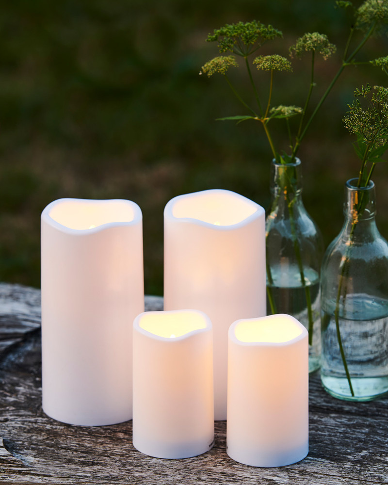 Sirius Home Storm Mini LED candle 2 pc H:6,5cm white plastic Outdoor