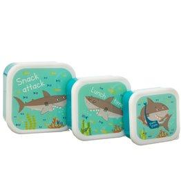 Sass & Belle Snackbox Set/3  Shelby the Shark