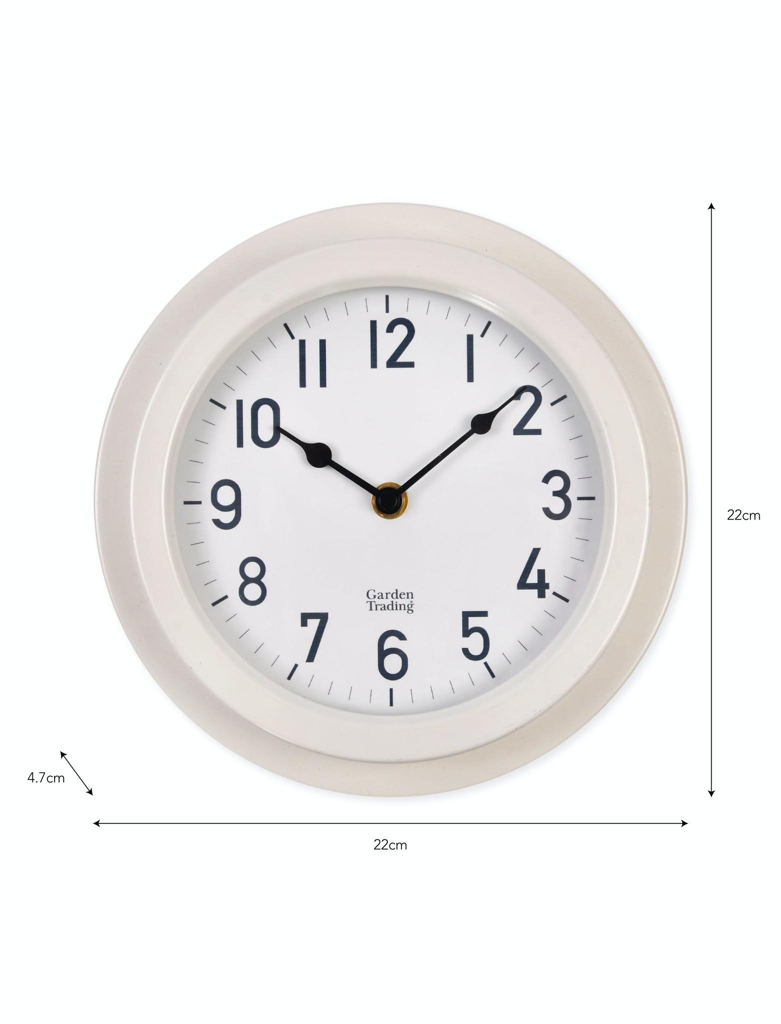 Garden Trading Tenby Clock Lily White Outdoor