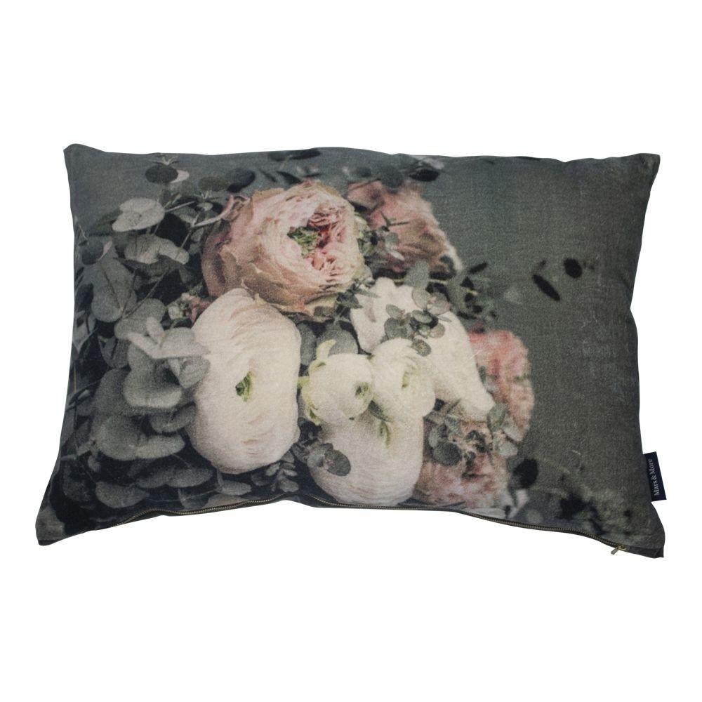 Mars & More Groot kussen fluweel bloemen 8