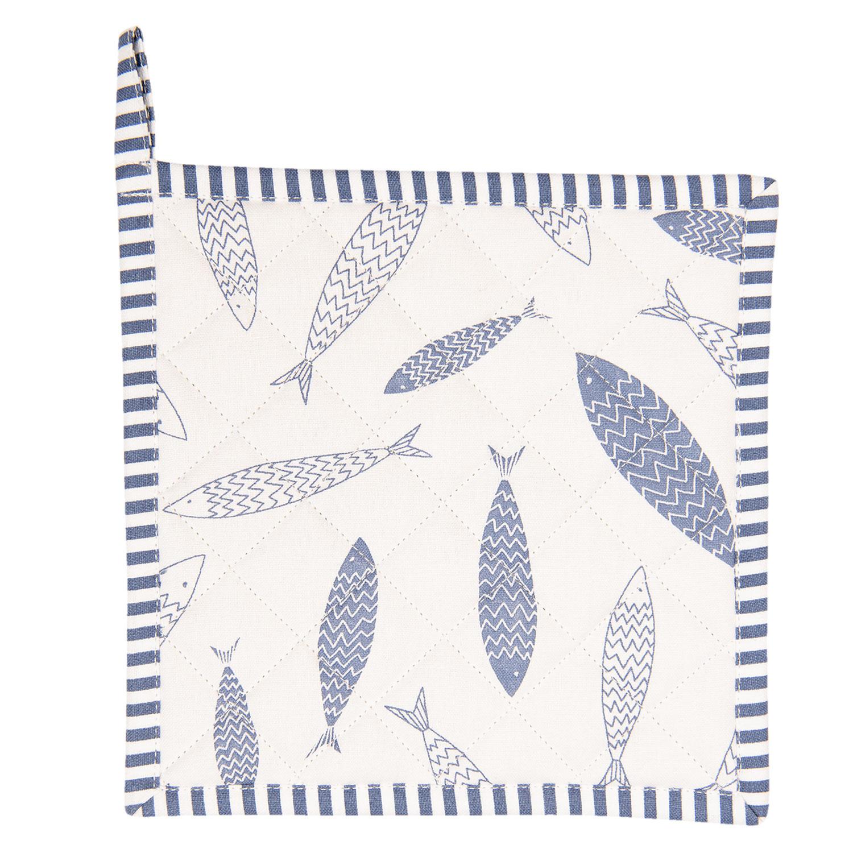 Clayre & Eef Pannenlap Nautic Fish