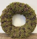 HBX Natural Living Krans Pine Green Moss 50 cm.