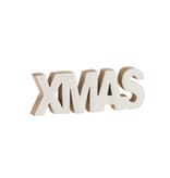 J-line Decoratie Xmas Mango Hout Wit Large