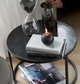 J-line Windlicht Antiek Glas Donkergrijs Large B