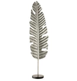 J-line Blad Op Voet Rond Aluminium/Marmer Zilver Large