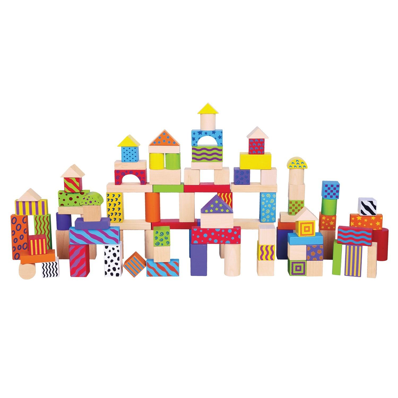 New Classic Toys Bouwblokken in Ton - Fantasie - 100 stuks
