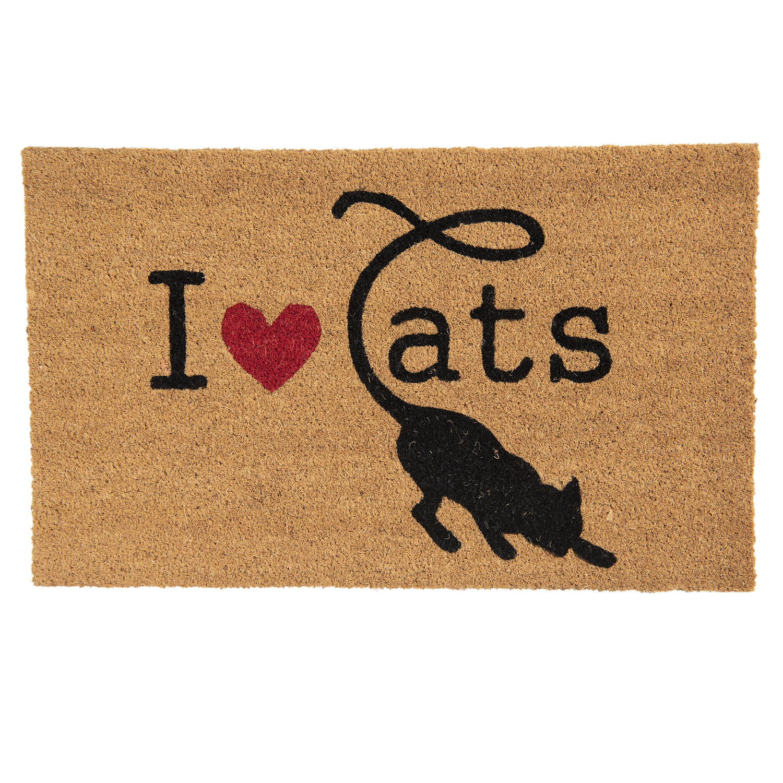 Clayre & Eef Deurmat I Love Cats