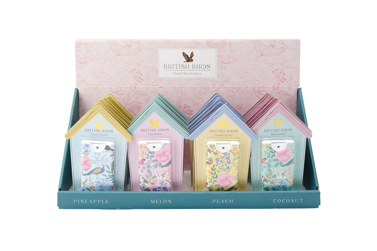 CGB Giftware Desinfectie handgel British Birds Peach Navulbaar