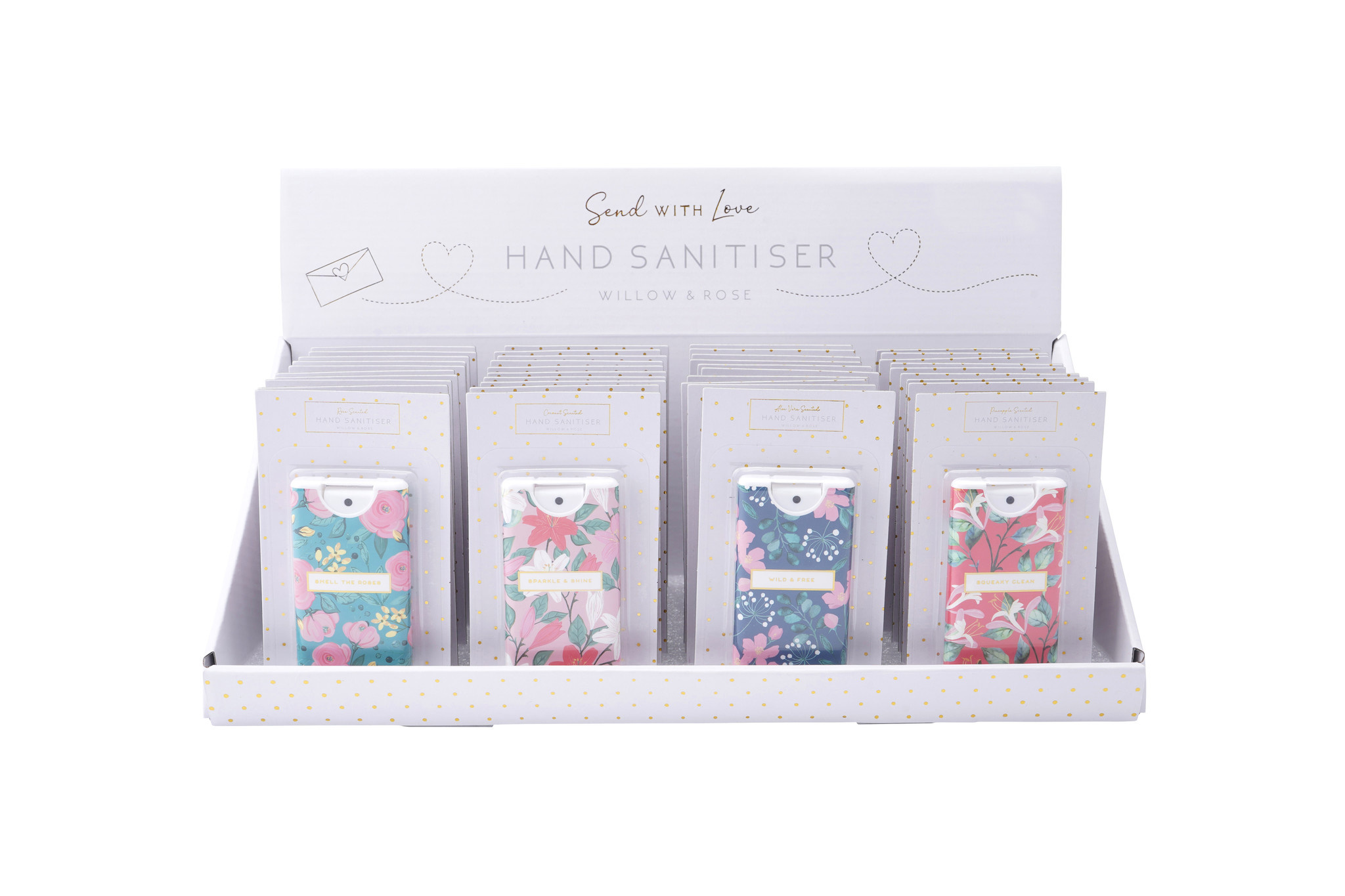 CGB Giftware Desinfectie handgel Willow & Rose Smell the Roses