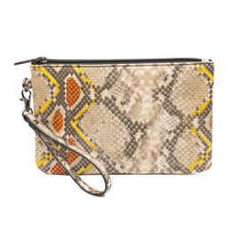 ZEBRA Natural Bag Clutch - yellow/orange