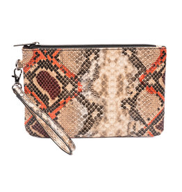 ZEBRA Natural Bag Clutch - orange/red