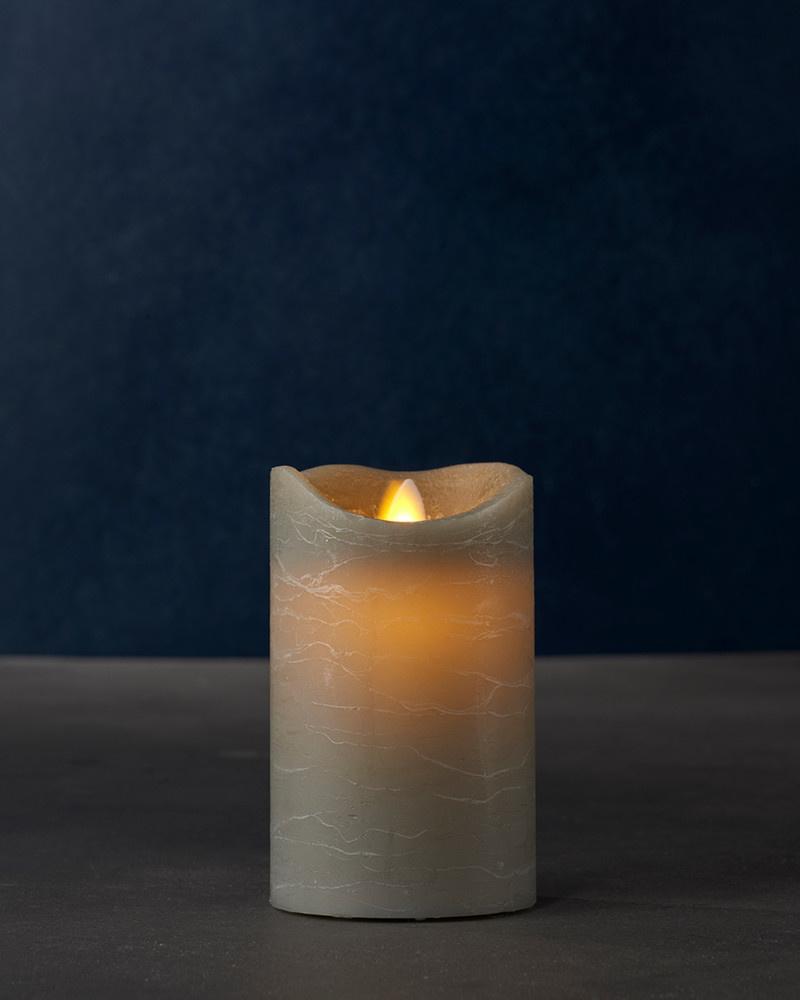 Sirius Home Sara Exclusive grey Ø:7,5 H:12,5cm moving flame