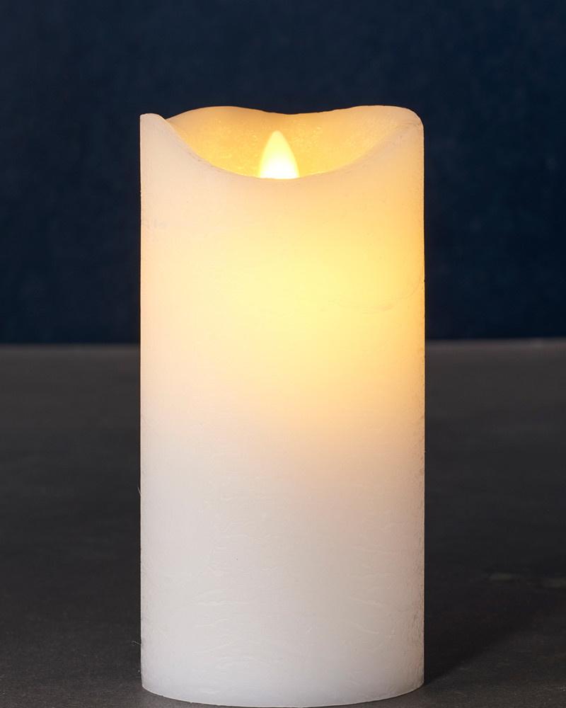 Sirius Home Sara Exclusive white Ø:7,5 H:15cm moving flame